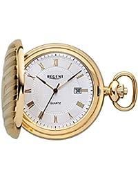 Regent Reloj de bolsillo dorado Analog Quartz P de 611