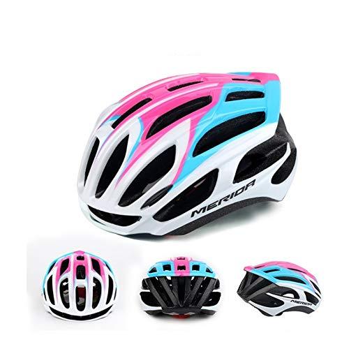 WRGWEHG Fahrradhelm Broken Mountain Rennrad/Reithelm / Mann/Schutzhelm / Integriertes Formteil/Reitausrüstung, Pulverisiertes Blau