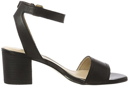 Aldo Lolla, Sandales Bout Ouvert Femme Noir (97 Black Leather)