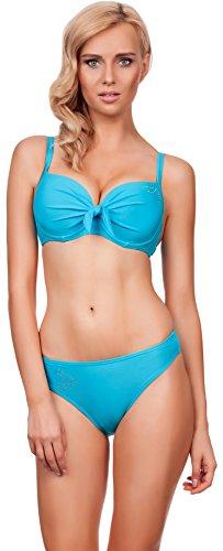 Lorin Damen Bikini Suzana 5184 (Cup 90 D / Unterteil 44, Hellblau)