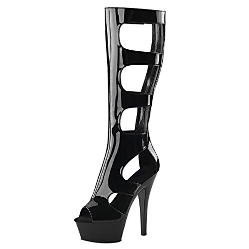 Heels-Perfect, Stivali donna Nero (Nero (nero))