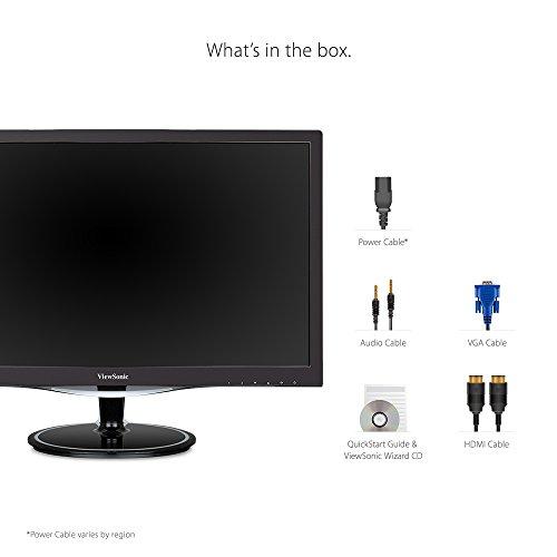 ViewSonic VX2457 mhd 24 Inch Gaming Monitor using FreeSync 1920 x 1080 1 ms VGA HDMI DisplayPort Black Products