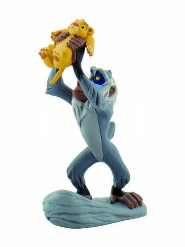 Bullyland 12256 - Spielfigur, Walt Disney König der Löwen - Rafiki mit Simba, ca. 10 cm