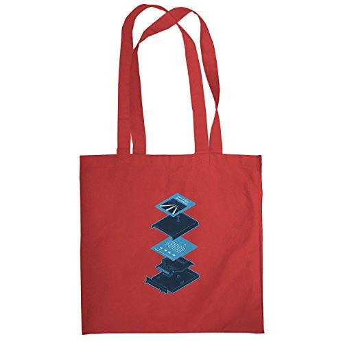 Texlab–Game Program Cartridge–sacchetto di stoffa Rot