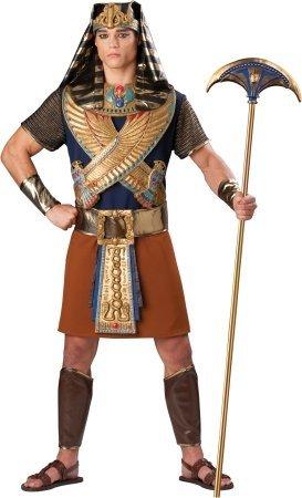 Für Erwachsenen Schwarzen Pharao Kostüm - Mighty Pharao Kostüm - Schwarz -