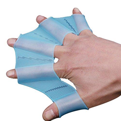 sourcingmap® 1 Paar S Silikon Fingerlos Schwimmen Frosch Flossen schwimmhäutig Handschuhe