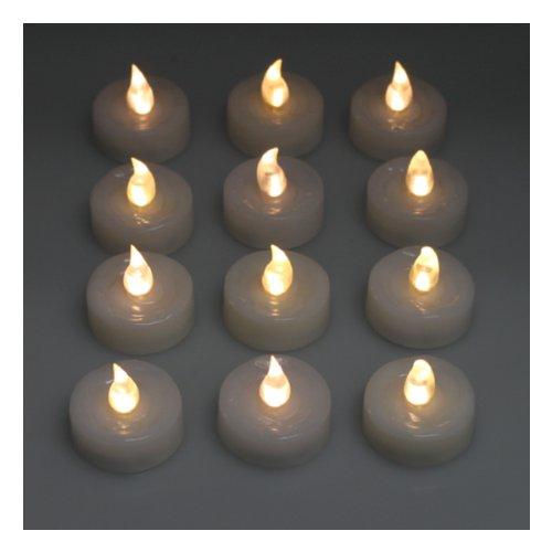 AGPtek 100x LED Vela Blanca Cálida Luz de Té Sin Fuego para Bodas Fiestas