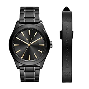 Armani Exchange Herren Analog Quarz Uhr mit Edelstahl Armband AX7102