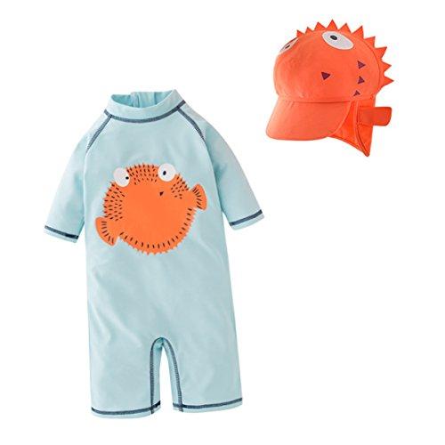 Bebone Baby Junge Badeanzug Sommer Badebekleidung Set (Stil 2, 2-3 Jahre)