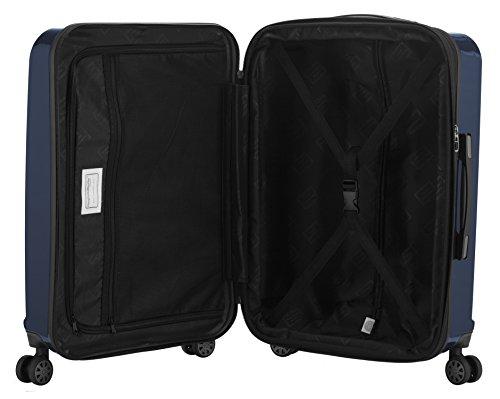 CAPITAL CASE - X-Berg -Handgepäck difficile trolley valigia, 55 cm, 42 litri, TSA, Nero Blu