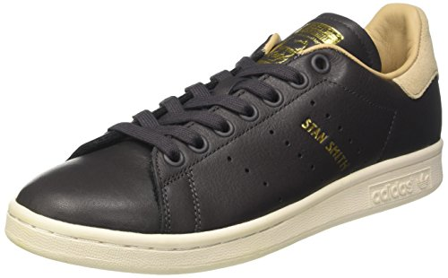 adidas Women's Stan Smith Trainers, Black (Utility Black/Utility Black/St Pale Nude), 4 UK