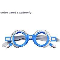 Marco de lente de prueba óptico ajustable 52-70 mm PD Optometría del ojo Óptico Marco de anteojos de plástico Accesorios para anteojos (color: aleatorio) (tamaño: 62 mm)