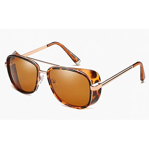 GBST Male Steampunk Sunglasses Tony Stark Iron Man Matsuda Sunglasses Retro Vintage Eyewear Steampunk Sun Glasses Uv400 Oculos De Sol,Gun