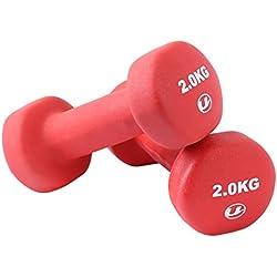 Ultrasport 331100000030 - Pesas gimnásticas de goma, 2 x 2 kg