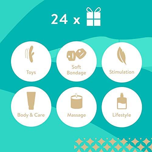Erotischer Adventskalender von AMORELIE 2018, 24 sinnliche und hochwertige Überraschungen – Advent Kalender für Erwachsene Paare + Parfumproben für Damen und Herren