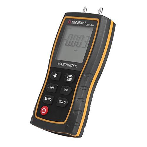 Zyyini Manometer, Hochpräzises Über- und Unterdruckmessgerät, Druckprüfgerät mit Digitalanzeige (ohne Batterie)