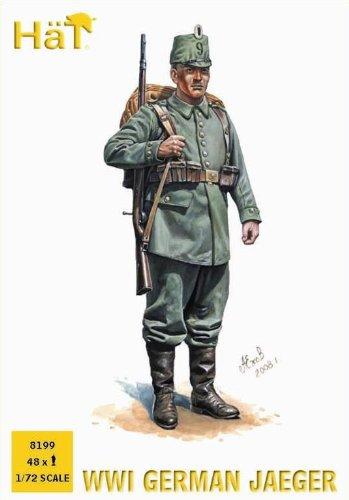 Hat industrie - kit di soldatini di plastica, soldati tedeschi jaeger della prima guerra mondiale, 1:72