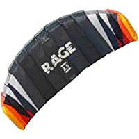 Flexifoil 1.8m2/2.5m2/3.5m2/4.7m2 4-Line Rage Sport Power Kite with 90 Day Money Back Guarantee! By World Record Winning Designer of 2-line and 4-line Power Kites - Safe, Reliable and Durable Power Kiting, Kite Training and Traction Kiting