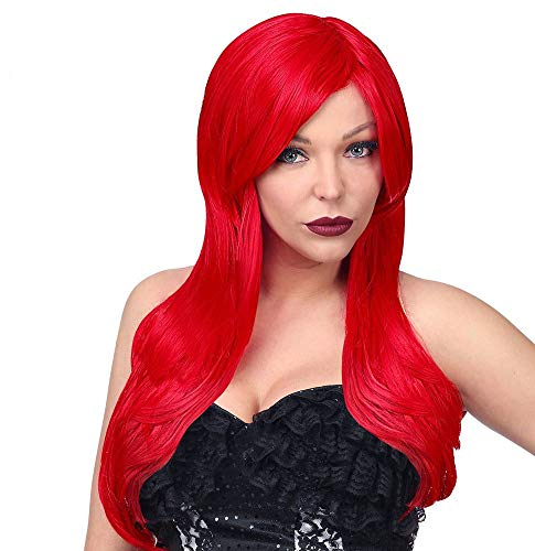 shoperama Deluxe Dream Hair Damen Langhaar Perücke Rot waschbar frisierbar hitzebeständig 60 cm Meerjungfrau Nixe (Eine Jessica Rabbit Kostüm)