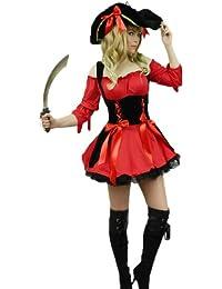 Yummy Bee - Piraten Maid Kostüm Damen Hut + Schwert Entermesser Größe 34 - 50