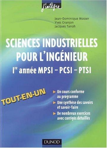 Sciences industrielles pour l'ingénieur 1e année MPSI-PCSI-PTSI