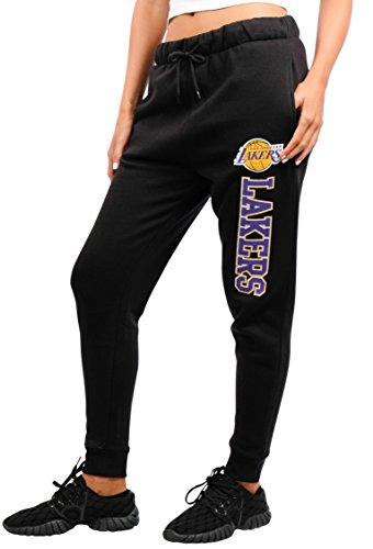 NBA Damen Jogger Pants Active Basic Fleece Sweatpants, Team Logo Dark, Damen, FFL3592F, schwarz, Medium - Active Fleece
