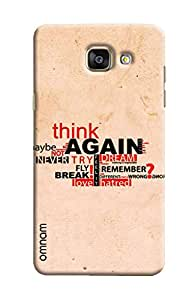 Omnam Motivational Quote Printed Designer Back Cover Case For Sumsang Galaxy A7 (2016)
