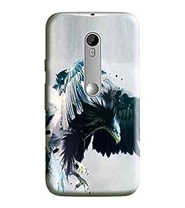 Hi-Me Designer Phone Back Case Cover Motorola Moto G3 :: Motorola Moto G (3rd Gen) :: Motorola Moto G3 Dual SIM ( Vulture Hunt Angry Dare Strong )