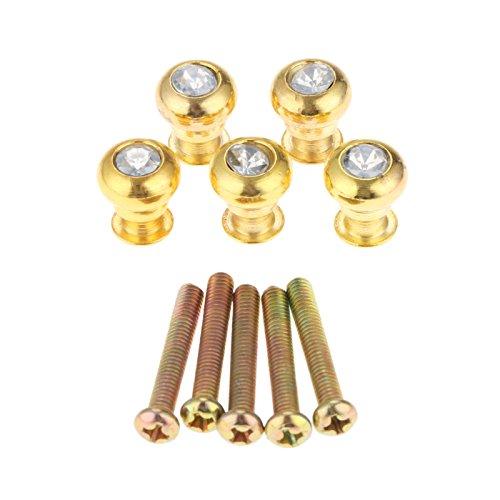 Kleine Griffe Knauf Eisen Acryl Durchmesser 11mm mit Schrauben für Kosmetik Schrank Aufbewahrungsbox (Herde Eisen)