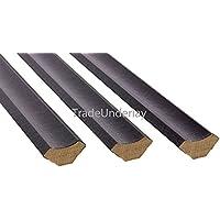 Extreme® Scotia abalorios (–Pack de 10x 1,20m de longitud–color negro