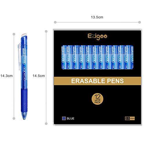 9BL808 /… Paquete de 12 Ezigoo Bol/ígrafo de Fricci/ón Retr/áctil con Clip Bot/ón y Punta 0.7 mm