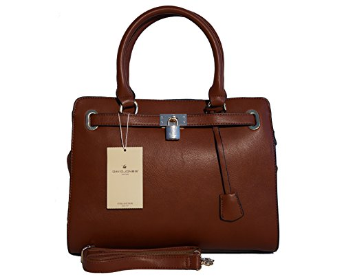 Borsa donna David Jones in ecopelle modello Kelly - mattone