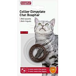Beaphar - Collier anti-puces et anti-tiques au Dimpylate - chat - marron