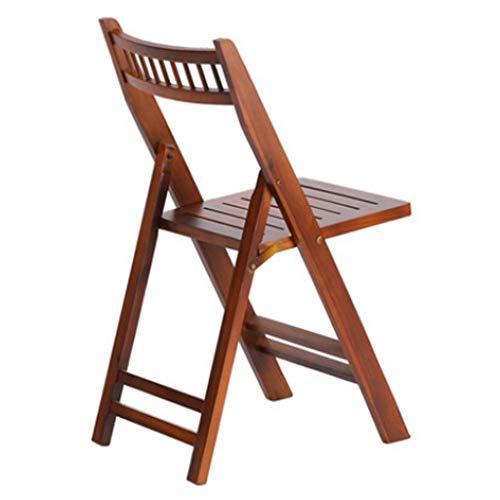 Fauteuils inclinables Chaise De Salon En Bois Rouge Chaise Pliante Pour Le Déjeuner Chaise De Salle À Manger En Bois Massif Chaise De Détente Dossier Décontractée Pour Adulte