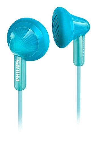 Philips SHE3010WT Mini-écouteurs souples avec basses puissantes et câble Flexi-Grip anti-torsions, 1m, Turquoise
