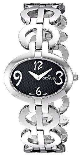 GROVANA - 4566.1137 - Montre Femme - Quartz Analogique - Bracelet Acier Inoxydable Argent