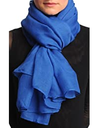 Plain Cobalt Blue Unisex Scarf & Beach Sarong - Blue Designer Scarf