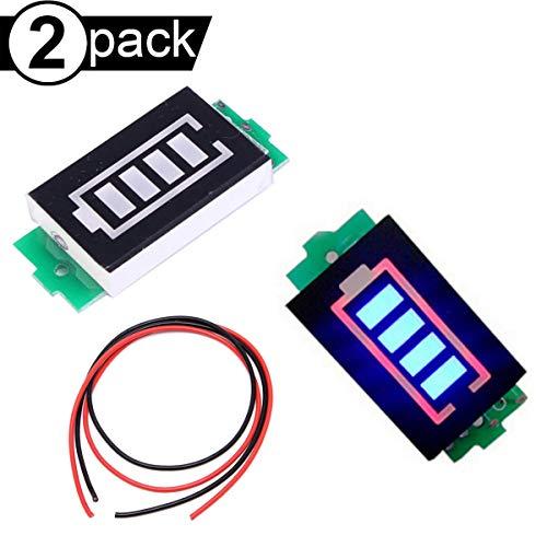 Youmile 2PACK 4S 16.8V Batteriekapazität Anzeigemodul Lithium-Lipo Batteriekapazität Tester Li-Ion-Modul 4 Abschnitte Blaue LED-Anzeige Elektrofahrzeug