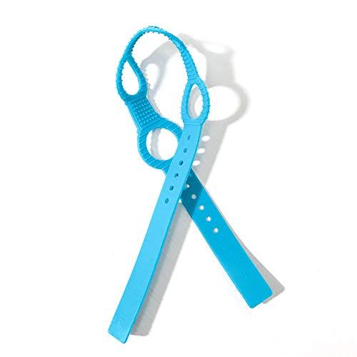 1pc Baby Schnuller Nipple-Anti-verlorene Kette Silikon-Anti-Tropfen-Kette für Kinderwagen hängende Baby Schnuller-Halter für alle Schnuller Greiflinge Geifer Lätzchen und Decken (blau)