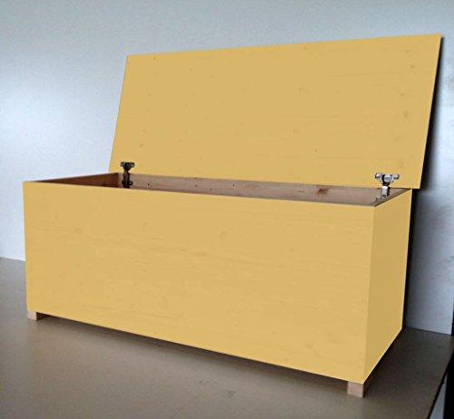 Cassapanca in multistrato con cerniera interna Cod 60 120x45x47 Smalto Ad Acqua Colore Giallo
