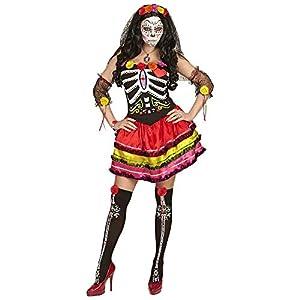 WIDMANN 65682Adultos Disfraz Mujer Dia de los Muertos, M
