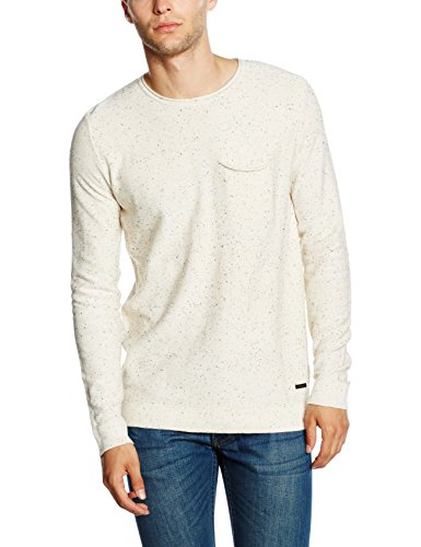 Only & Sons Onsdian Naps Crew Neck Knit Noos, Pull Homme Blanc (Cloud Dancer)
