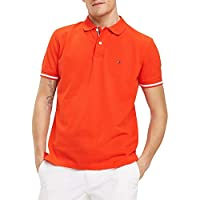 Tommy Hilfiger Men's Basic Tipped Regular Polo, Red (Fiery Red 658), Medium