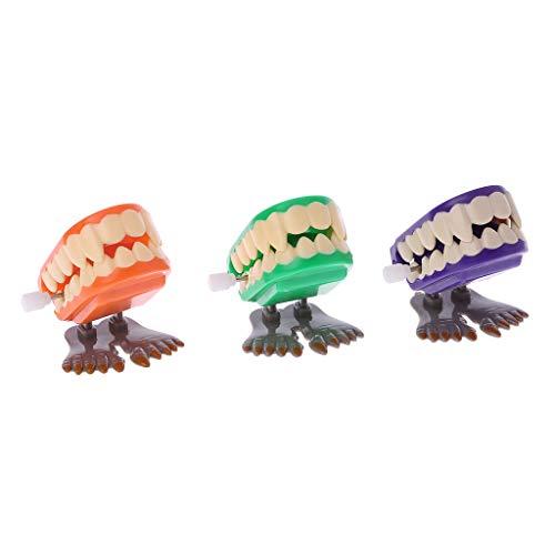 LyGuy Uhrwerk-Springender Gebiss-Pädagogische Mechanische Spielwaren-Halloween-Streich-Dekoration Gebiss Spielzeug Regalo para Niños Farbe Zufällig 1 Stück