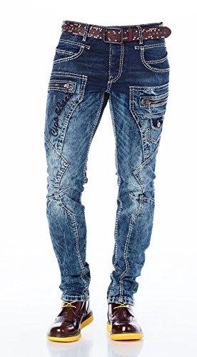 Cipo & Baxx Homme Jeans / Jeans Straight Fit Tight bleu foncé