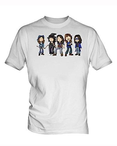 Deep purple Bianco T-Shirt uomo