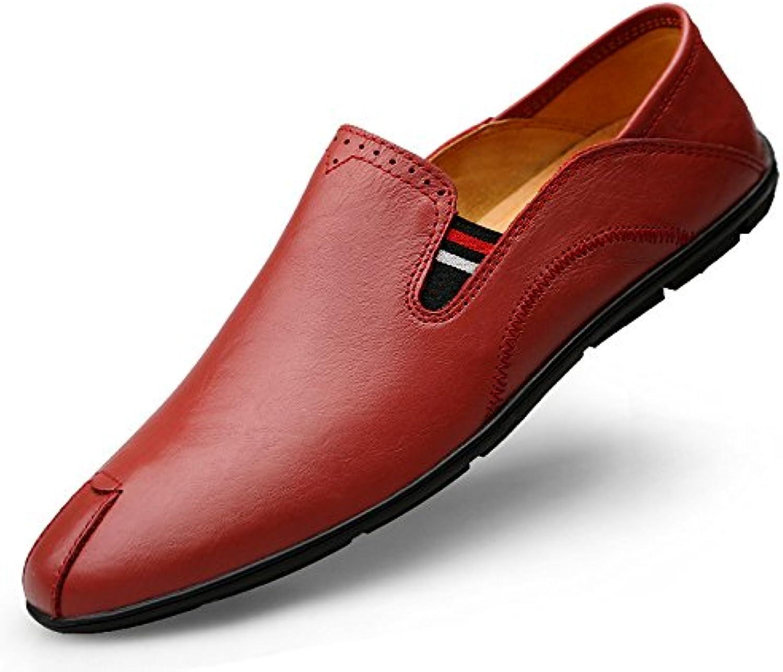 YXLONG Die Koreanische Version der Wilden Schuhe der Ledernen Erbsen der Neuen Männer des Herbstes Beschuht Schuhe