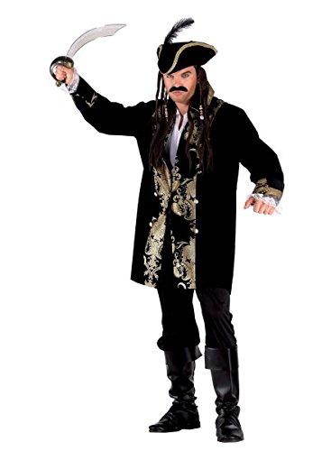 Pirat Kostüm für Erwachsene - Piraten Luxus Kostüm, (Kostüm Männer Piraten Einfache)