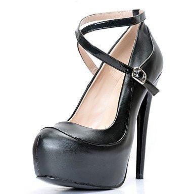 CH&TOU Da donna-Tacchi-Ufficio e lavoro / Formale / Casual / Serata e festa-Plateau / Others / Cinturino alla caviglia-A stiletto-Finta pelle- black