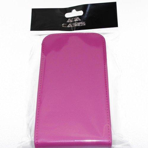 Custodia a libro in ecopelle per iPhone o Samsung vari modelli ® AOA Cases, Ecopelle, Rosa, Apple iPhone 5 5S Rosa